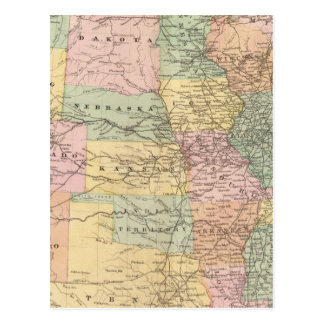 Map of the United States of America 3 Postcard
