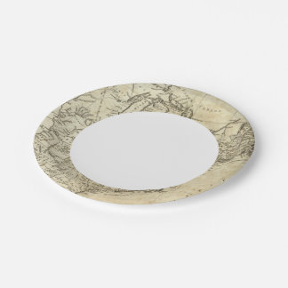 Map of the United States of America 7 Inch Paper Plate