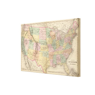 Map of the United States of America Canvas Print