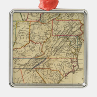 Map of the United States of America Christmas Ornament