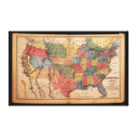 Map of the United States of America in 1853 Stretched Canvas Print