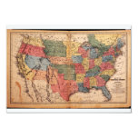 Map of the United States of America in 1853 Announcement