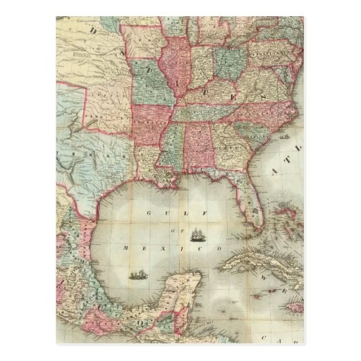 Map Of The United States Of America Post Cards