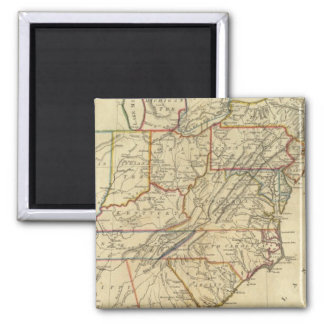 Map of the United States of America Square Magnet