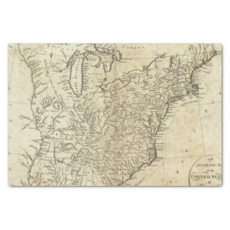 Map of the United States of America Tissue Paper