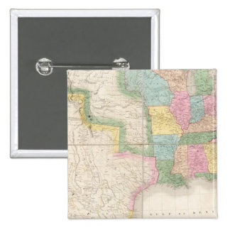 Map of the United States Of North America 15 Cm Square Badge