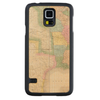 Map of the United States Of North America Carved Maple Galaxy S5 Case
