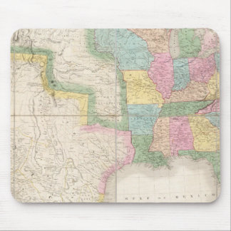 Map of the United States Of North America Mouse Mat