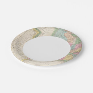 Map of the United States Of North America Paper Plate