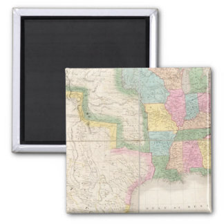 Map of the United States Of North America Square Magnet