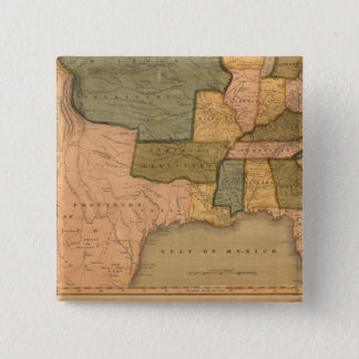 Map of The United States with George Washington 15 Cm Square Badge
