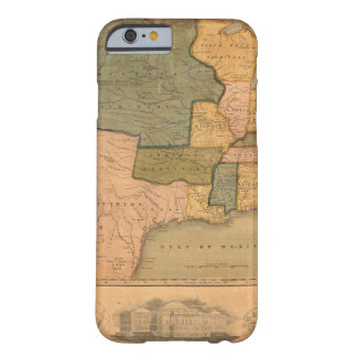 Map of The United States with George Washington Barely There iPhone 6 Case