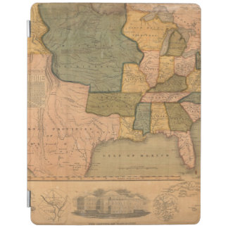 Map of The United States with George Washington iPad Cover