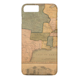 Map of The United States with George Washington iPhone 8 Plus/7 Plus Case
