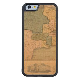 Map of The United States with George Washington Maple iPhone 6 Bumper Case