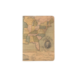 Map of The United States with George Washington Passport Holder