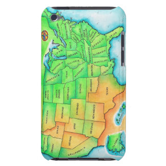 Map of the USA Barely There iPod Cover
