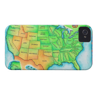 Map of the USA iPhone 4 Case