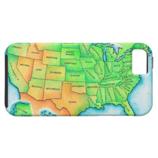 Map of the USA iPhone 5 Covers