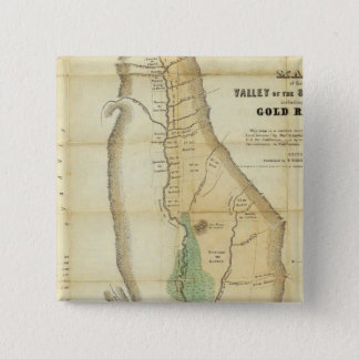 Map of the Valley of the Sacramento 15 Cm Square Badge