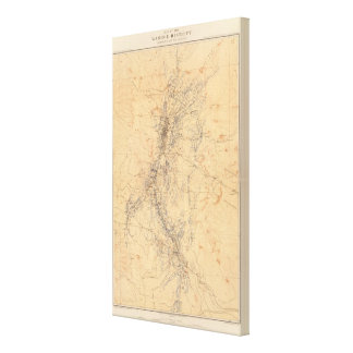 Map of the Washoe District Showing Mining Claims Gallery Wrapped Canvas