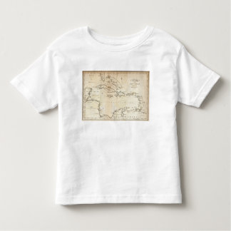 Map of the West Indies 2 Toddler T-Shirt