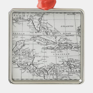 Map of the West Indies Christmas Ornament