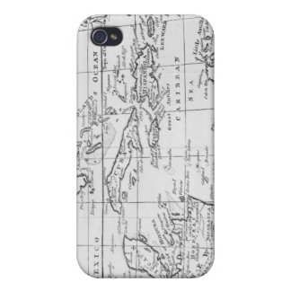 Map of the West Indies iPhone 4/4S Cases