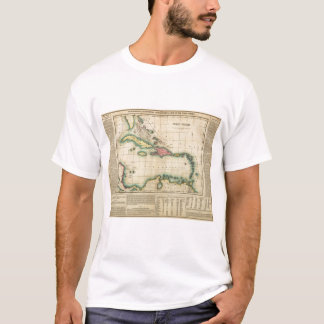 Map Of The West Indies T-Shirt