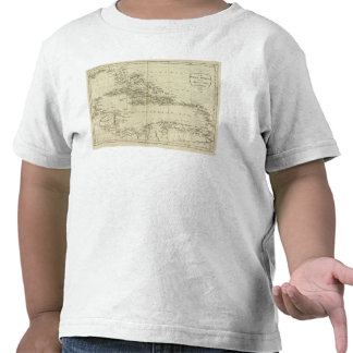 Map of the West Indies T-shirts