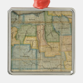 Map of the Western Part of the State Of New York Christmas Ornament