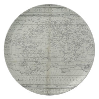 Map of the World 10 Plate