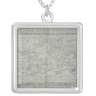Map of the World 10 Silver Plated Necklace