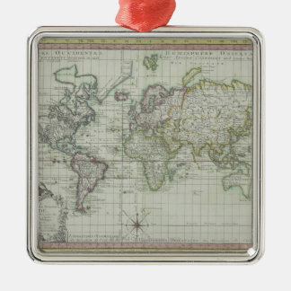 Map of the World 11 Christmas Ornament