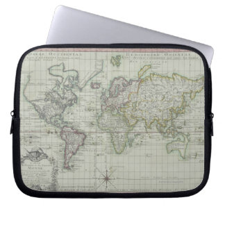 Map of the World 11 Laptop Sleeve