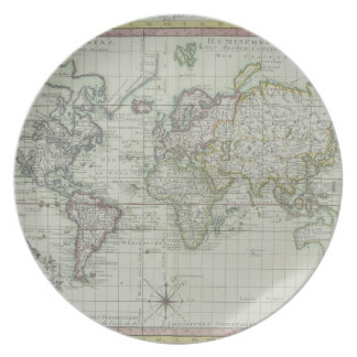 Map of the World 11 Plate
