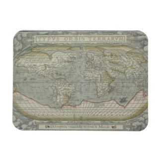 Map of the World 12 Magnet