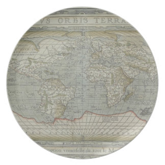 Map of the World 12 Party Plate