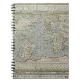Map of the World 12 Spiral Notebook