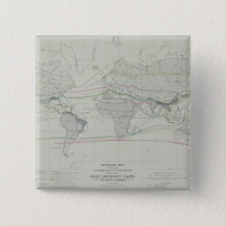 Map of the World 13 15 Cm Square Badge