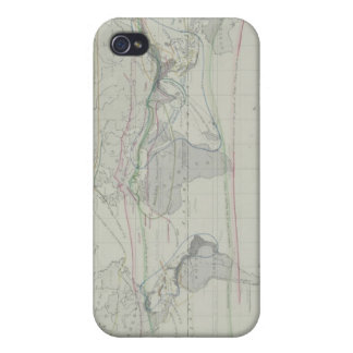 Map of the World 13 iPhone 4 Covers