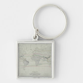 Map of the World 13 Key Ring