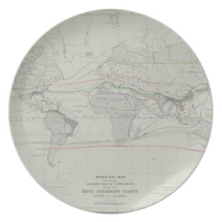 Map of the World 13 Party Plates