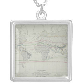 Map of the World 13 Silver Plated Necklace