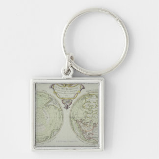 Map of the World 14 Key Ring