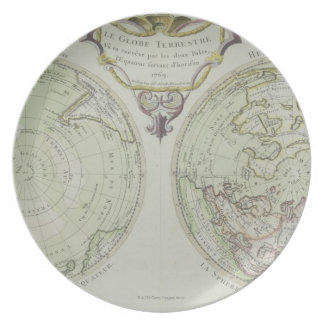 Map of the World 14 Plate