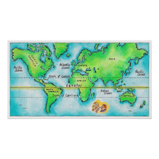 Map of the World 14 Poster
