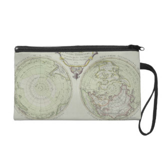 Map of the World 14 Wristlet Clutch