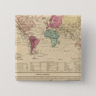 Map of The World 15 Cm Square Badge