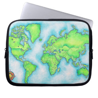 Map of the World 15 Laptop Sleeve
